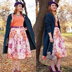Rose petals. #chicwish trench coat and midi skirt(shop link in profile) #chic #warm #fall #autumn #floral #midiskirt #fullskirt #colorful #ootd #outfit #style #lady #elegance #shop #shoppingonline #sale