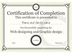 Course completion certificate template course completion example certificate template you can download this one and others like it for free yadclub Images