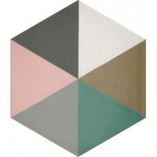 Moroccan Encaustic Cement Hexagonal Tile Rainbow