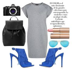 """""""photo"""" by karimesar ❤ liked on Polyvore featuring Topshop, MANGO, Ray-Ban, Arco, Olympus and Charlotte Tilbury"""