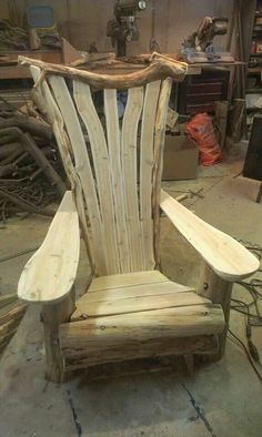 Adirondack chair in the making. One of a set. Made by Whitten Hill Studio
