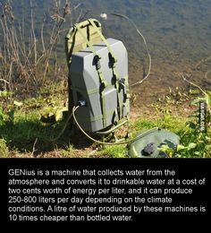 This machine makes drinking water from thin air