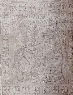 Tristan quilt - detail of Tristan and Morold. via Annatextiles