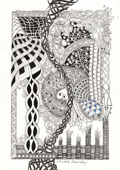 Zentangle Inspired Art - Tornado