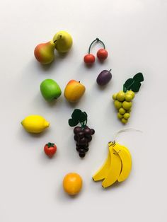 Play Food - wooden fruit for play kitchen, solid beech, made in Germany