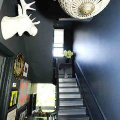 London Victorian ~ Eclectic Style Utilizes a Mix of Furnishings & Accessories from Different Periods ~ Stairwell Perspective
