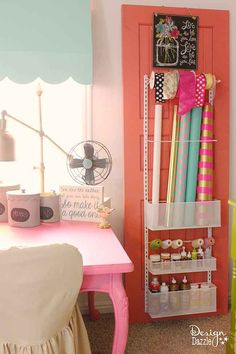 Take a peek into my craft room! This is where all the magic happens. See the full tour MichaelsMakers Design Dazzle!