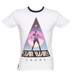 Men's White Original 1975 Star Wars Logo Ringer T-Shirt from Chunk