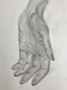 Pencil drawing hand