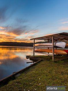 Kayak, canoe or SUP the reservoir lake at Sweetwater Creek State Park near Atlanta