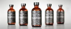 nice label design and simple old school bottles