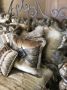Champagne Old World Bedding Luxury Bedding Collections, Fox Fur, Burlap Wreath, Old World, Damask, Color Schemes, Swarovski Crystals, Champagne, Fabrics