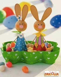 Easter nest from egg carton - Judith Schneewolf Osternest aus Eierkarton Easter nest from egg carton Egg Carton Crafts, Egg Crafts, Diy And Crafts, Paper Crafts, Easter Art, Easter Crafts For Kids, Diy For Kids, Kids Fun, Easter Activities