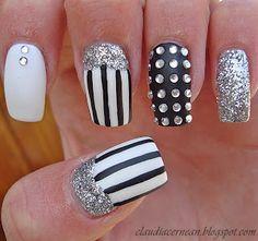 Nails Art Tutorials: Unghii cu Linii - Lines Nails