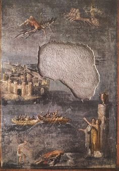The Fall of Icarus. Fresco from Pompeii (the House of the Priest Amandus, I.7.7). 40—79 A.D. Pompeii, The House of the Priest Amandus.
