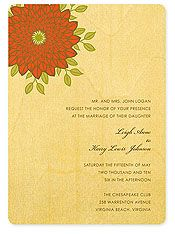 Wedding invitations printed on birch wood by Night Owl Paper Goods