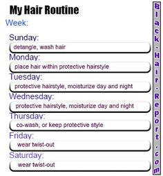 Black Hair Needs a Routine, good regimen for the busy....