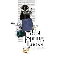 Spring Look by deenguyen on Polyvore featuring J. Mendel, Miu Miu, Dolce&Gabbana, Yves Saint Laurent, Nancy Gonzalez, Lele Sadoughi, Maison Margiela and H&M