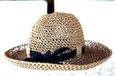 Adjustable Crochet Summer Straw Sun Hat by beliz82 on Etsy