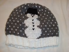 RESERVED For Sandy Knit Snowman Beanie Hat by KnitsBellissimo