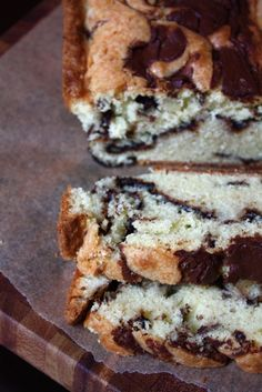 Nutella Pound Cake YUM! Love this recipe from Blue Eyed Bakers