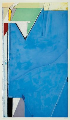 Richard Diebenkorn - High Green Version II 1992 - Color spit bite and soap ground aquatints with soft ground and hard ground etching and drypoint in Modern Art, Abstract Artists, Richard Diebenkorn, Artist Inspiration, Art, American Painting, Abstract, Prints, Abstract Expressionist