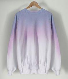 Image of Pastel Crayon Dip Dye Sweater COMING SOON