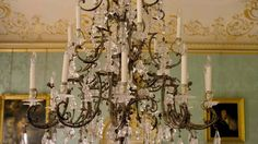 chandelier in drawing room