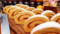 Lekváros piskóta tekercs @Szoky konyhája - YouTube Baking And Pastry, Bread, Cookies, Youtube, Food, Dessert Ideas, Pastries, Crack Crackers, Brot