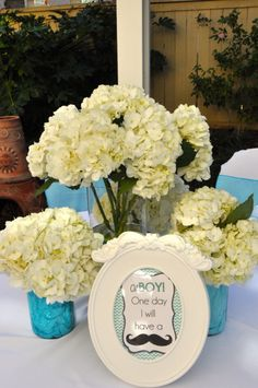Boy Baby Shower  #boybabyshower love the flowers