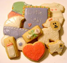 baby girl cookies by sweetsbysherie.blogspot.com