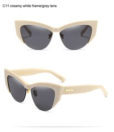 bce48b0f73faa4 Hot Style European Fashion Sunglasses Personality Half Frame Sun Glasees  For Men Vintage Eye Cat Sunglasses