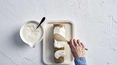 Voileipäkääretorttu   Kakut   Yhteishyvä Plastic Cutting Board, Dishes, Tablewares, Dish, Signs, Dinnerware