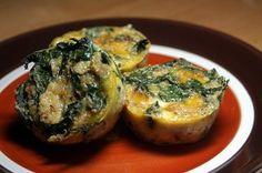 Quinoa and Kale Mini Quiches #breakfast #freezercooking #kale