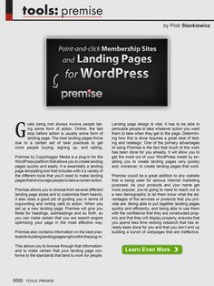 The best landing pages thrive due to a certain set of best practices to get more people buying, signing up, and calling. Piotr, founder/CEO of ValuedMarketer, will show you a plug-in for WordPress platform that allows you to create landing pages quickly and easily with a variety of the different tools that you'll need to make landing pages that encourage people to takes certain action.  More info: http://magazine.valuedmarketer.com/