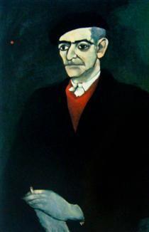 Retrato de Almada Negreiros - Nikias Skapinakis