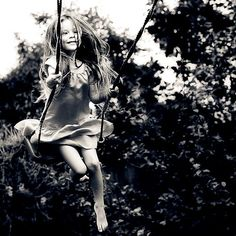 One of my most favorite thing to do as a child was to swing. Swing as high as I could, as if to fly away from my troubles. Black White Photos, Black And White Photography, Robert Louis Stevenson, Poses, Upcoming Events, Children Photography, Photoshoot, In This Moment, Beautiful