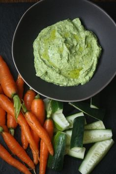 Green Goddess Avocado Dip Recipe with Crudites | Healthy, Dairy-Free