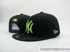 MLB Baseball NEW YORK Yankees NY Snapback Hat Cap Black Green|only US$6.00 - follow me to pick up couopons.