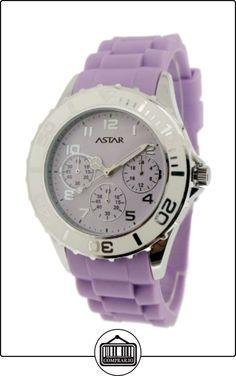 Astar ULK12703Plp - Reloj analógico para mujer de silicona violeta  ✿ Relojes para mujer - (Lujo) ✿