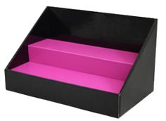 Black and Pink Tiered Cardboard Counter Vendor or Retail Display – Stack Displays