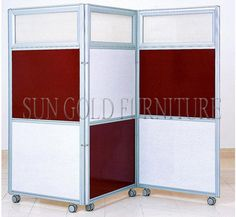 Modern Decorative Hotel School Home Office Folding Rolling Partition  Wall(SZ WS591) Office