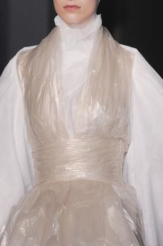 Clear plastic dress, close up fashion details // Gareth Pugh Fall 2014