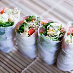 Food : Eleven Really Delicious Rice Paper Roll Recipes --made  tuna rolls  good!!!