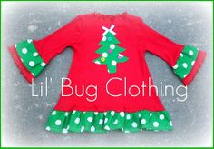 Custom Boutique Christmas Comfy Knit Button by LilBugsClothing, $38.00
