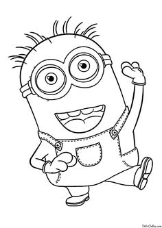 while you wait for the upcoming movie minions have fun coloring this amazing minion phi coloring sheet - Despicable Coloring Pages Dave