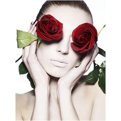 Photo of the Day Pale Roses ❤ liked on Polyvore featuring models, people, photos, faces and pics