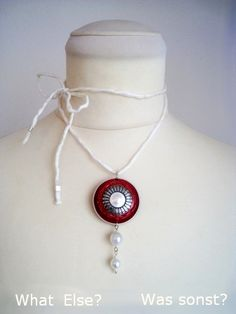 Necklace with nespresso pendant. Very trendy! What Else? Was Sonst? by haefner-design.