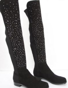 Stuart Weitzman Tall Stud fifty over knee boots suede