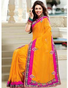 Buy Remarkable Georgette Saree Online. http://www.bharatplaza.com/new-arrivals/sarees.html